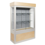 Platinum Visual Systems - Free Standing Trophy and Display Case with Wood Base and Upper Cornice (FWS)