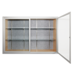 Platinum Visual Systems - Recessed Display Case with Hinged Glass Doors (HDS)