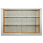Platinum Visual Systems - Recessed Display Case with Sliding Glass Doors (SDS)