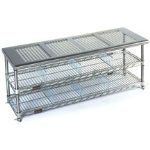 Eagle Group - Perforated Top - Gowning Benches with Standard Undershelf
