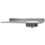 Eagle Group - Countertops with Stainless Steel Hat Channels - Square Edge