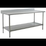 Eagle Group - Budget Series Worktables - Backsplash, Stainless Steel Legs with Undershelf