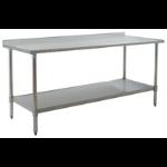 Eagle Group - Deluxe Series Worktables - Rear Upturn, Stainless Steel Base with Undershelf