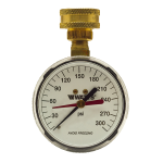Watts - 276H300 - Hose Connection Gauges, 0 to 300psi Scale