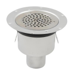 Watts - BSR-800 - Shower Drain with Round Top, Surface Membrane Clamp (For Rubberized Sheet Flooring)