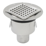 Watts - BSS-300 - Bottom Outlet Shower Drain with Square Top