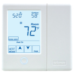 Watts - TekmarNet® Thermostat 557 - Radiant Floor, 2 Heat Pump/Cool, Backup, Humidity