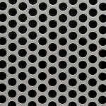 McNichols Co. - Perforated Metal, Round, Stainless Steel (SS) - 18126111M1