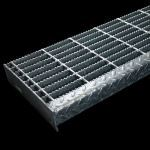 McNichols Co. - Stair Treads, Bar Grating, Welded, Bar - GW-100 (Welded), 19-W-4, Galvanized (GV) - 640131T503