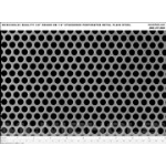 """McNichols Company - Round Perforated, 11 Gauge Plain Steel, 3/8"""" Round on 1/2"""" Staggered, 24.0000"""" x 24.0000"""" - 16381211"""