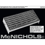 "McNichols Company - Bar Grating Stair Tread, Welded, Galvanized, Checker Plate Nosing, GW 100, 1"" x 3/16"" Bearing Bars,"