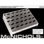 "McNichols Company - DIAMONDBACK® Stair Tread, Aluminum, 1-1/2"" Channel, Integral Nosing, Vented Serrated Surface, 9"" x 1"