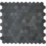 "Coverall Stone - Hexagon 1"" Basalt Mosaic Tile"