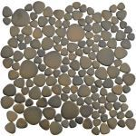 Coverall Stone - Antique Bronze Porcelain Pebble Tile