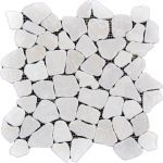 Coverall Stone - Mosaic Ivory Pebble Tile