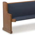 Sauder Worship Seating - Upholstered Seat with Straight Back Pews and Benches