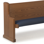 Sauder Worship Seating - Upholstered Seat with Straight Wood Back Pews and Benches