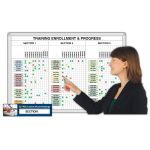 Magnatag Visible Systems - Training Enrollment and Progress™ Magnetic Dry-Erase Whiteboard System