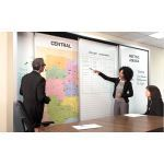 Magnatag Visible Systems - TrackWall® Sliding Panel FullWall® System With Magnetic Steel Whiteboards, Maps and Bulletin Panels