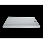 "Shower Walls - Cultured Marble Shower Bases - 30"" X 60"" Reversible Trench Drain Shower Pan 3"" Treshold"