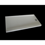 "Shower Walls - Cultured Marble Shower Bases - 32"" X 60"" Reversible Trench Drain Shower Pan"