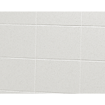 "Shower Walls - Cultured Marble Tub Surrounds - 6"" X 10"" Smooth Tile"
