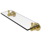 Allied Brass - Astor Place Vanity Glass Shelf with Beveled Edges - Unlacquered Brass