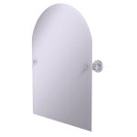 Allied Brass - Frameless Arched Top Tilt Mirror with Beveled Edge - Polished Chrome - AP-94