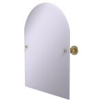 Allied Brass - Frameless Arched Top Tilt Mirror with Beveled Edge - Satin Brass - AP-94