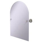 Allied Brass - Frameless Arched Top Tilt Mirror with Beveled Edge - Satin Nickel - AP-94