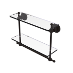 Allied Brass - Astor Place Collection Two Tiered Glass Shelf with Integrated Towel Bar - Oil Rubbed Bronze