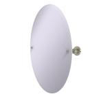 Allied Brass - Frameless Oval Tilt Mirror with Beveled Edge - Polished Nickel - AP-91
