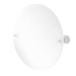Allied Brass - Frameless Round Tilt Mirror with Beveled Edge - Matte White - AP-90