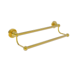 Allied Brass - Bolero Collection Double Towel Bar - Unlacquered Brass