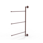 Allied Brass - 3 Swing Arm Vertical 28 Inch Towel Bar - Antique Copper