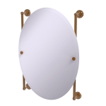 Allied Brass - Dottingham Collection Oval Frameless Rail Mounted Mirror - Brushed Bronze