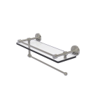 Allied Brass - Dottingham Collection Paper Towel Holder with Gallery Rail Glass Shelf - Satin Nickel