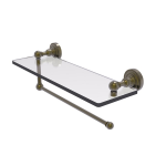 Allied Brass - Dottingham Collection Paper Towel Holder with Glass Shelf - Antique Brass