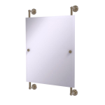 Allied Brass - Dottingham Collection Rectangular Frameless Rail Mounted Mirror - Antique Pewter