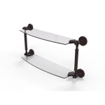 Allied Brass - Dottingham Collection Two Tiered Glass Shelf - Venetian Bronze