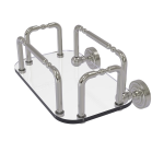 Allied Brass - Dottingham Wall Mounted Guest Towel Holder - Satin Nickel
