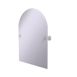 Allied Brass - Frameless Arched Top Tilt Mirror with Beveled Edge - Satin Chrome