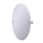 Allied Brass - Frameless Oval Tilt Mirror with Beveled Edge - Satin Chrome