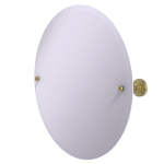 Allied Brass - Frameless Round Tilt Mirror with Beveled Edge - Satin Brass