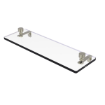 Allied Brass - Foxtrot Collection Glass Vanity Shelf with Beveled Edges - Polished Nickel