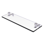 Allied Brass - Foxtrot Collection Glass Vanity Shelf with Beveled Edges - Satin Chrome