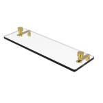 Allied Brass - Foxtrot Collection Glass Vanity Shelf with Beveled Edges - Unlacquered Brass
