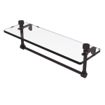 Allied Brass - Foxtrot Collection Glass Vanity Shelf with Integrated Towel Bar - Antique Bronze