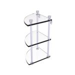 Allied Brass - Three Tier Corner Glass Shelf - Polished Chrome