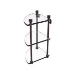 Allied Brass - Three Tier Corner Glass Shelf - Venetian Bronze